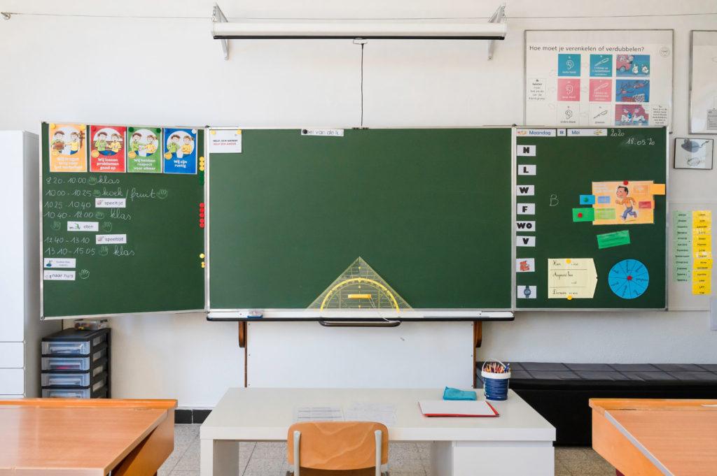 School de Merode schoolbord
